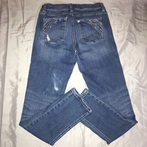 Slim Ankle Bling Jeans Women's WHBM Size 4R